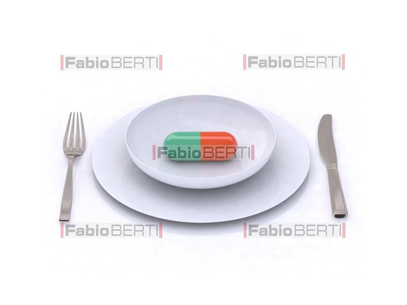 pillola sul piatto