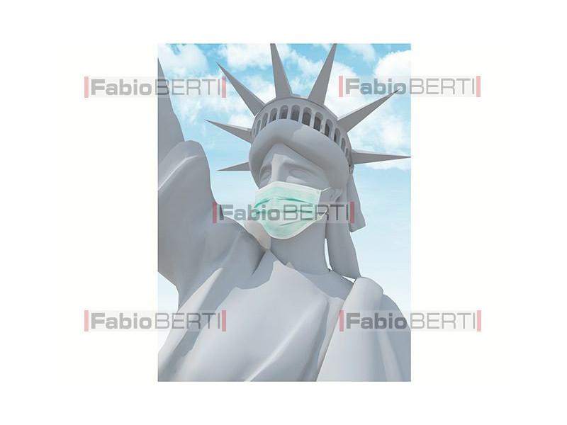 statua libertà maschera