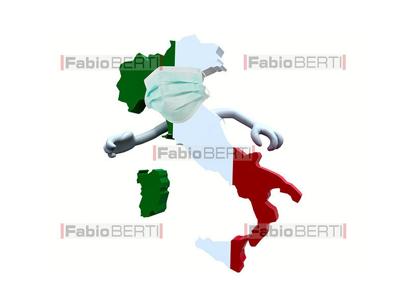 Italy with mask