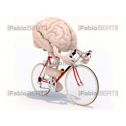 brain on a racing bicycle