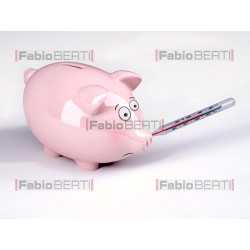 piggy bank with fever