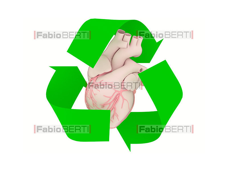 heart recycling symbol