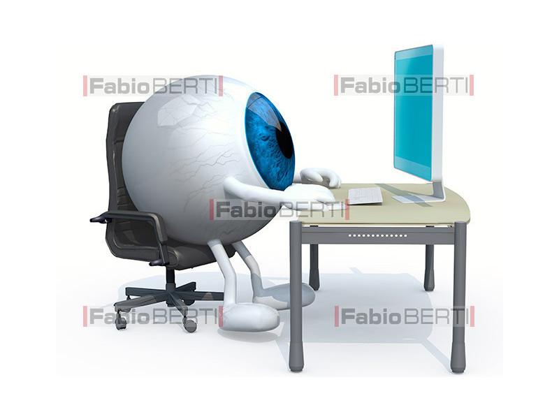 occhio al computer