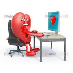 cuore al computer