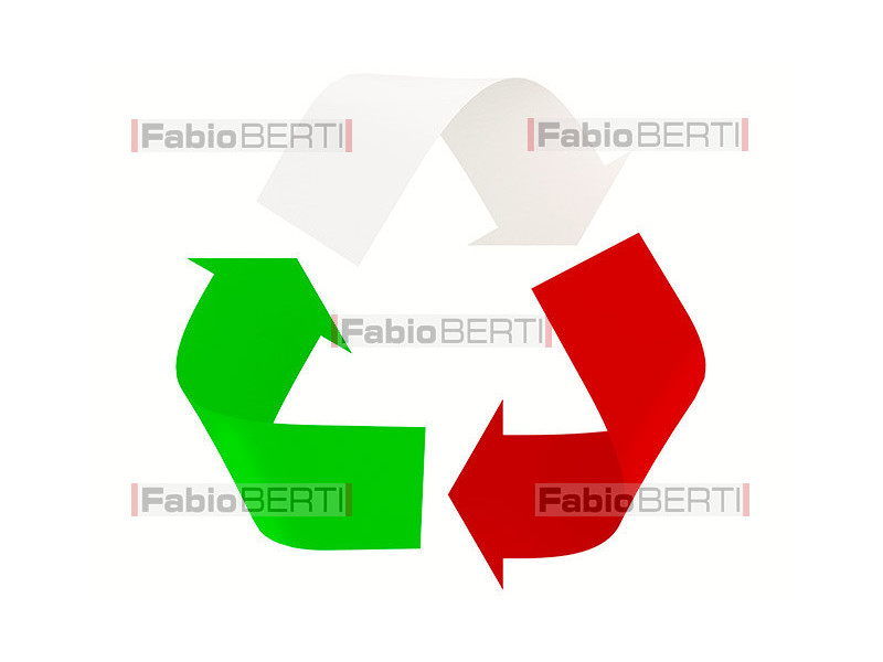 Italy recycling symbol