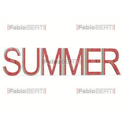 scritta summer cocomero