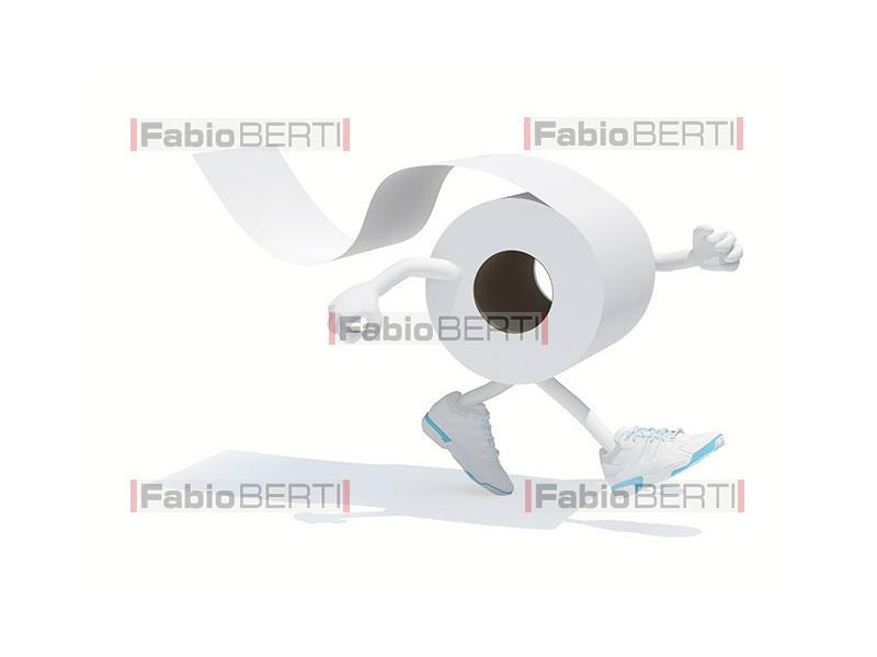 running toilet roll