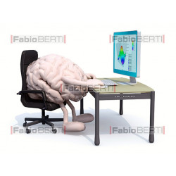 brain on the computer