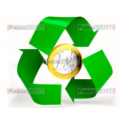 recycling euro coin
