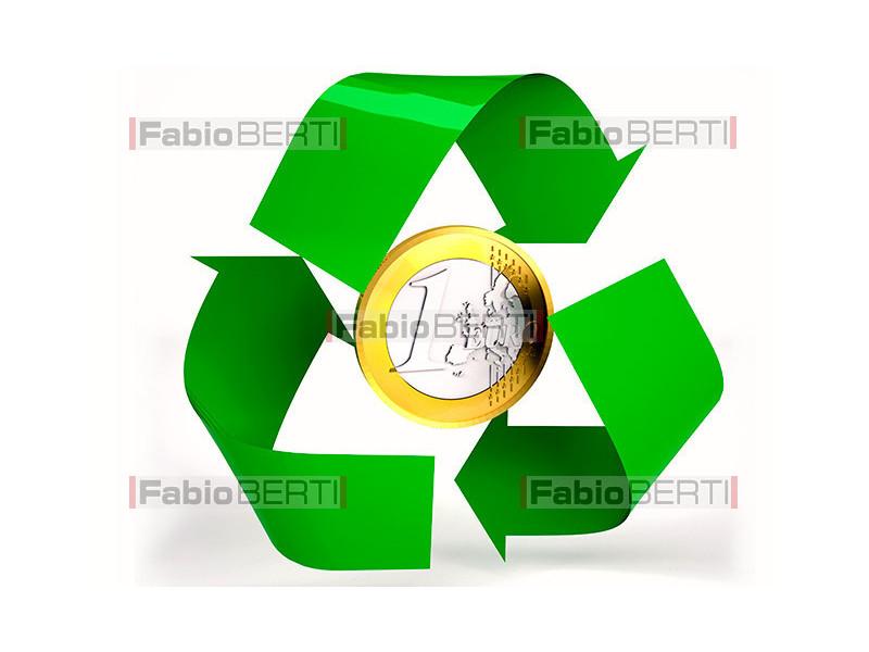 recycling euro coin