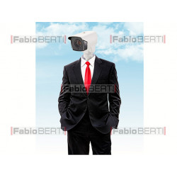 business man security cam