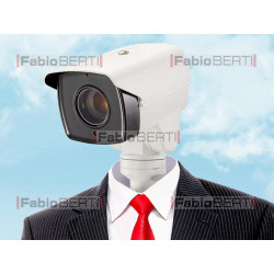 business man security cam