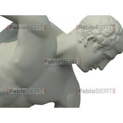 A discobolus statue launches a world