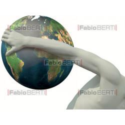 Discobolo che lancia il mondo