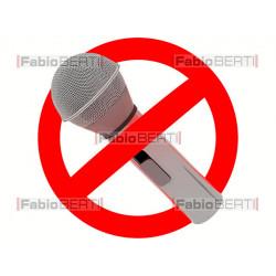 simbolo divieto microfono