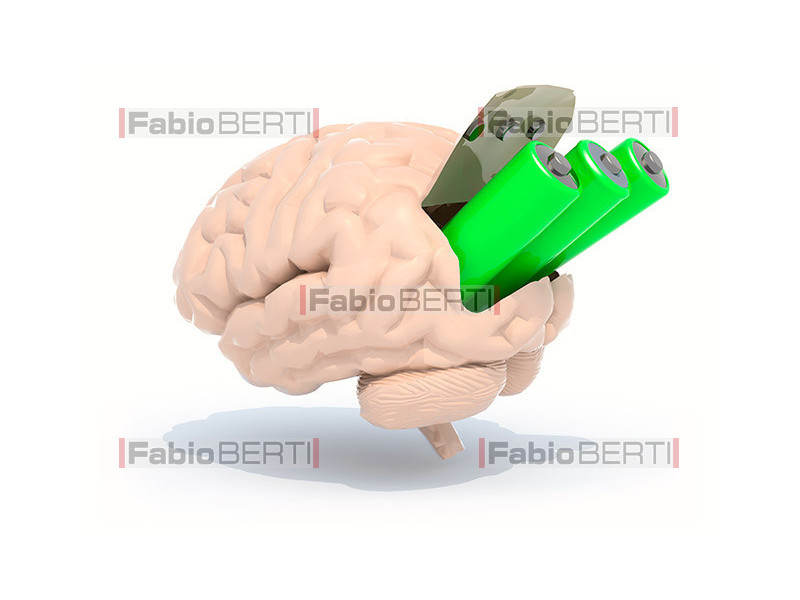 brain with batteries
