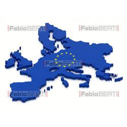 europa 3d bandiera