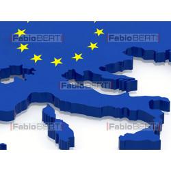 Europe with euro flag