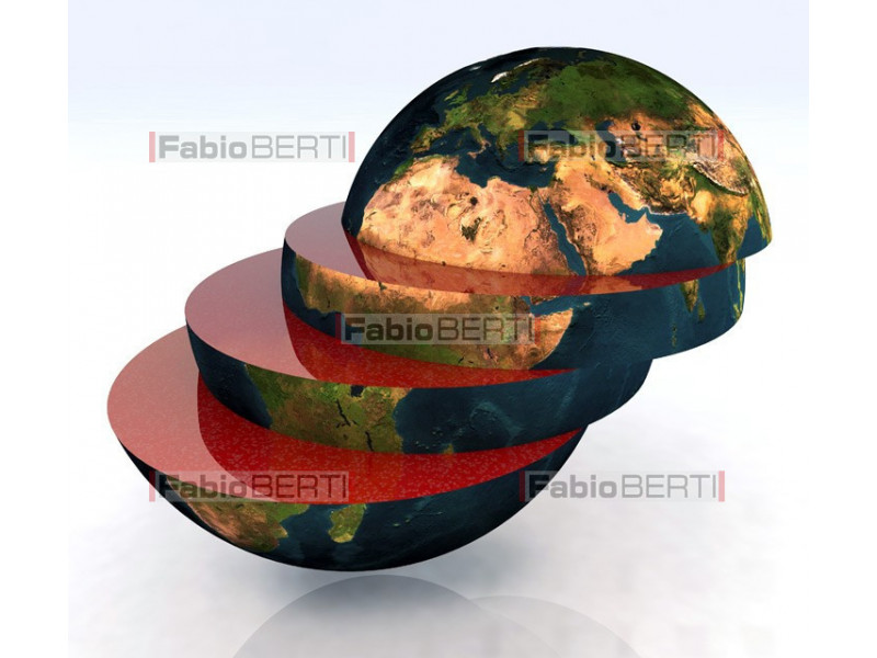 the world sliced