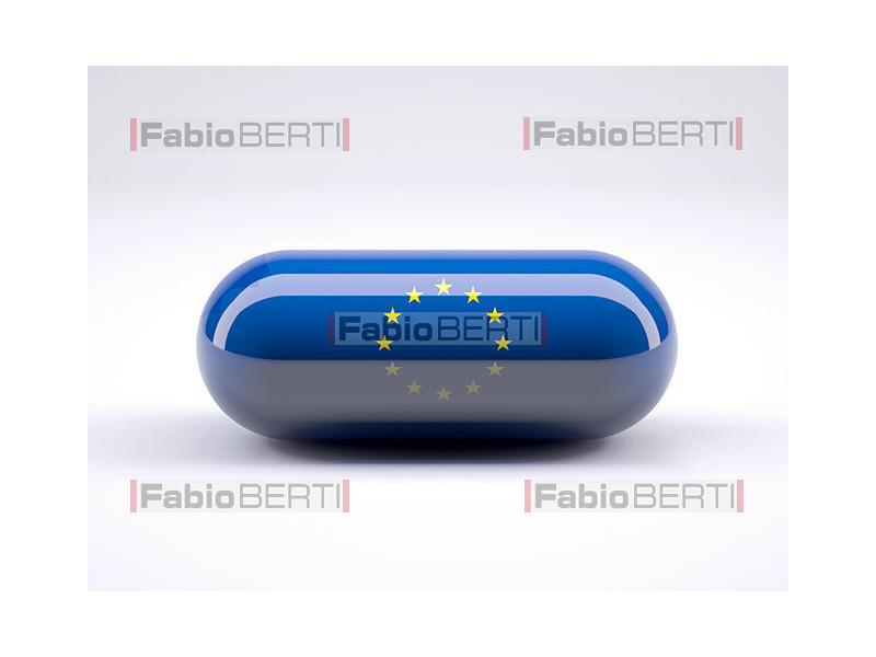 pill with euro flag