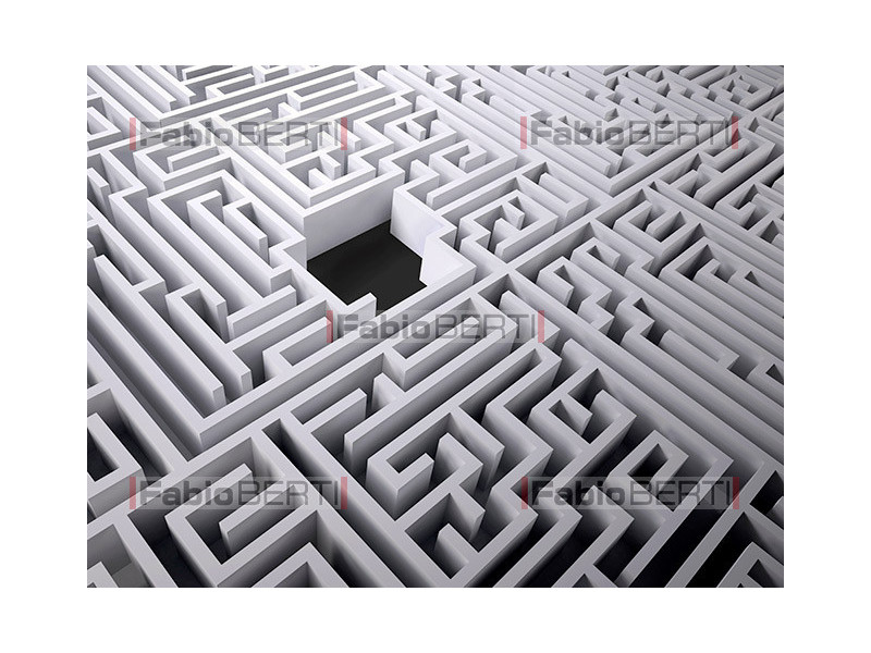 labyrinth with black hole