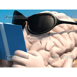 brain relax on the beach