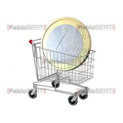 carrello con euro