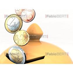 salvadanaio con euro