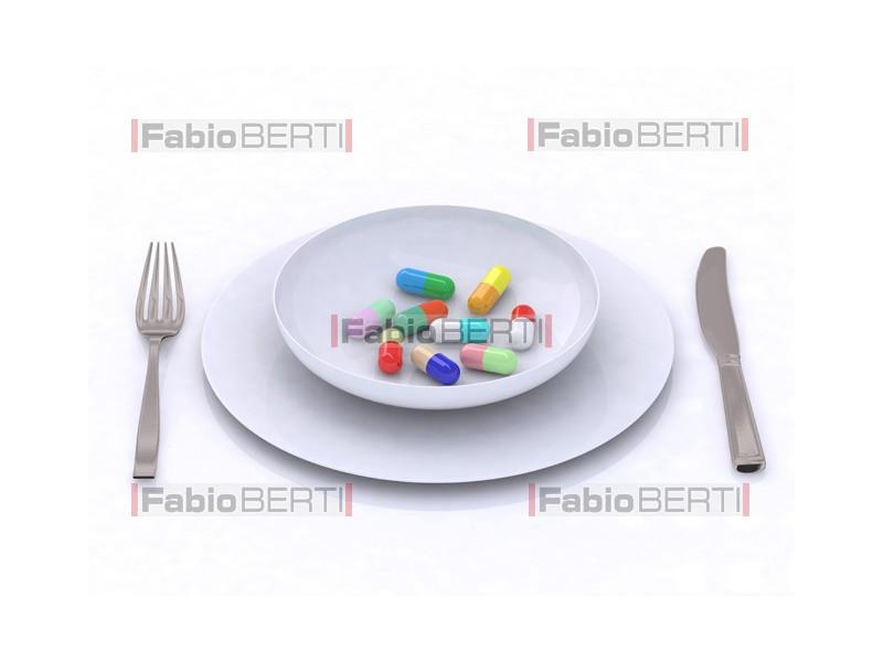pillole sul piatto