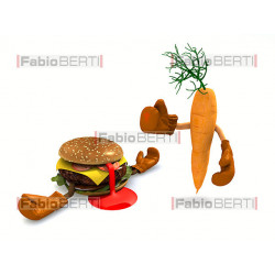 carrot vs hamburger boxe
