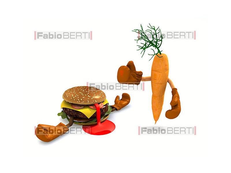carrot vs hamburger boxe