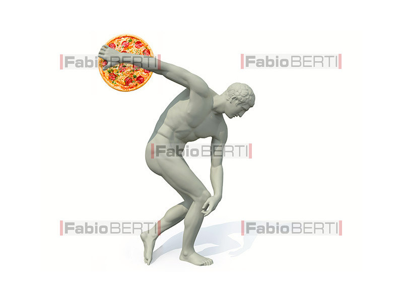 discobolus statue launches a pizza