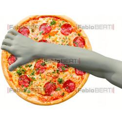 Discobolo che lancia pizza