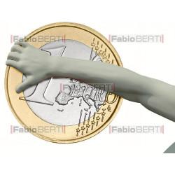 Discobolo che lancia Euro