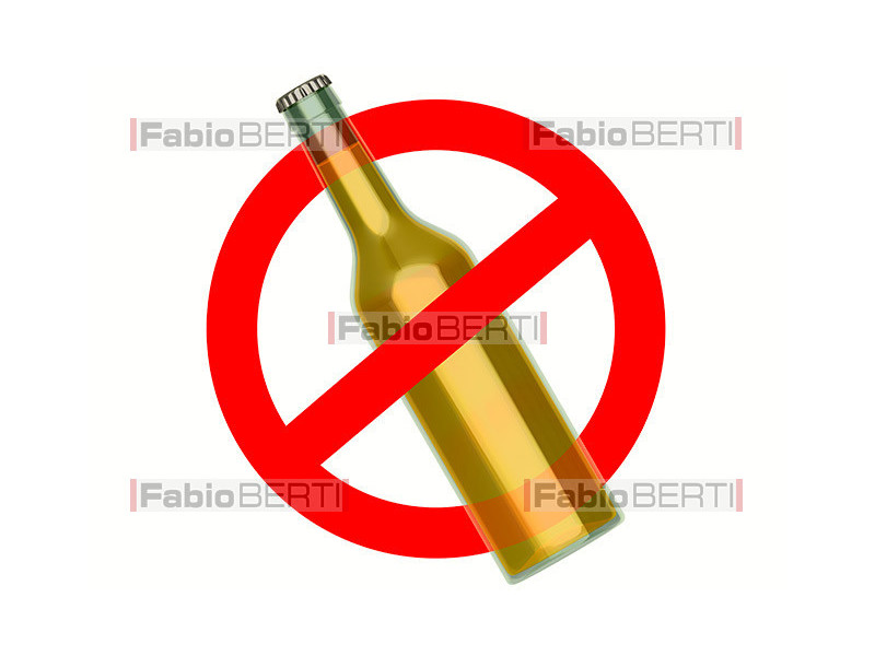divieto bottiglia birra