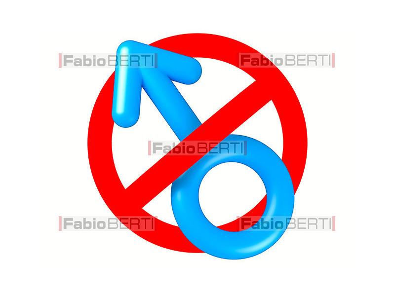 man symbol on prohibition sign