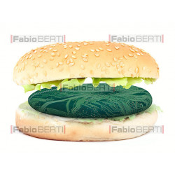 syntetic meat burger