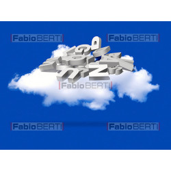 cloud with 3d letters
