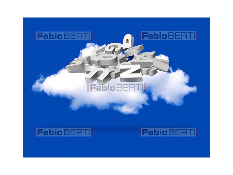 nuvola con lettere