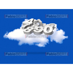 cloud with 3d numbers