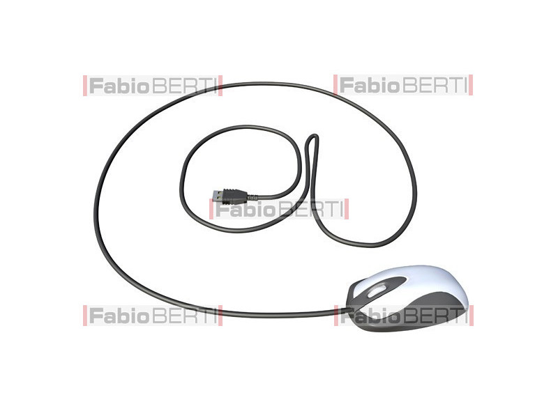 @ symbol with mouse cable