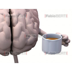 cuore e cervello caffè