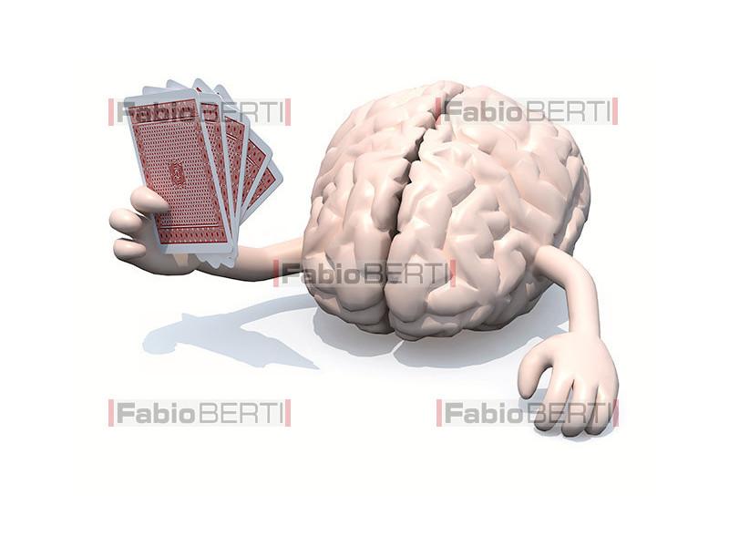 cervello gioca carte