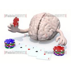 cervello gioca poker