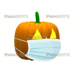 halloween pumpkin with mask