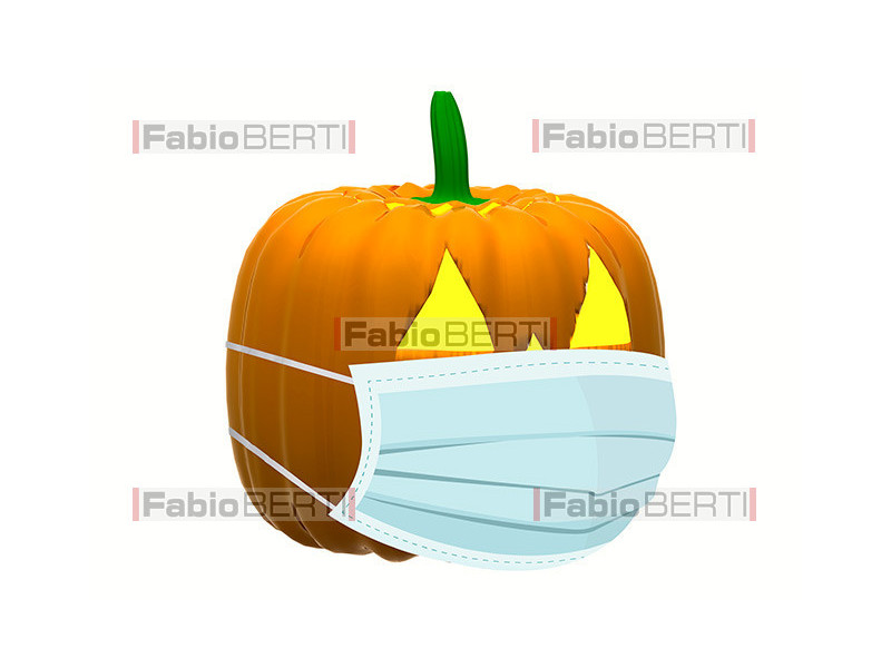 halloween pumpkin with mask