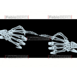 X-ray hands pointing