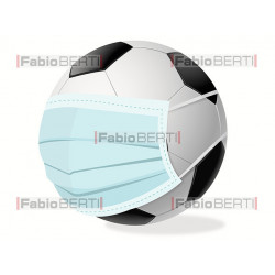 soccerball with mask