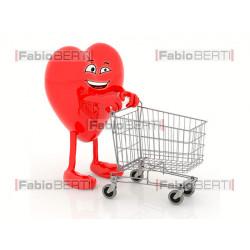 cuore con carrello