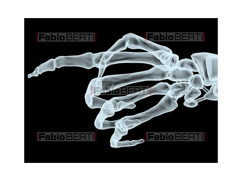 mano X-ray che indica